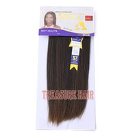 better hair extensions - 6PCS Noble Better Yaki Straight Synthetic Hair Extension Weave High Quality Synthetic Hair Weft Extensions quot Color1B