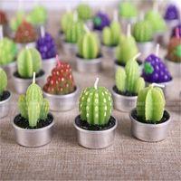 art cactus - Novelty Funny Cactus Grape Fruit Candle Non toxic Candles Birthday Wedding Festival Annivesary Party Gift Bar Decor