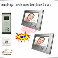 apartment key - Ultra thin Color Video Door Phones Intercom Systems For Apartments Indoor units inchs and keys outdoor unit