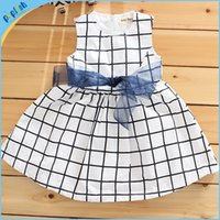 baby frock designs - Baby Girls nice and cool cotton dresss new girl check design sleeveless summer dress Children s day Frock