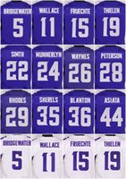 Wholesale 11 Laquon Treadwell Moritz Bohringer Chad Greenway Kyle Rudolph Everson Griffen Purple White New Football Jerseys