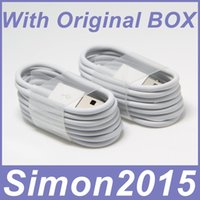 Wholesale 1M Ft Micro USB Sync Data Cable Charging Cords Charger Line With Retail Box Package for Samsung Galaxy S3 S4 S6 Edge LG HTC Sony Nokia