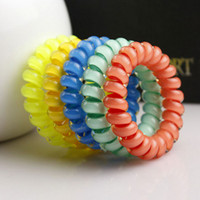 basic telephones - Hot New Girls Women Telephone Cord Elastic Ponytail Holders Hair Ring Scrunchies Girls Rubber Bands Tie Basic Hair Accessories