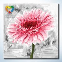 baby pink paint - Pink Flower Wall Art DIY Painting Baby Toys x40cm Digital Canvas Oil Painting Drawing Wall Art for Family Gift with SGS PONY CNAS