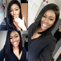 bang fringe hairstyles - 150 Density Glueless Full Lace Wig With Baby Hair Full Fringe Lace Front Wig Brazilian Hair Wigs with Bang For Black Women