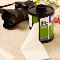 Wholesale Tissue boxes roll paper holder creative magazine shape plastic standing tissue box magic sticker handing toilet paper holder