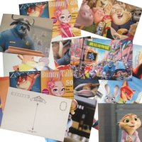 Wholesale Prettybaby set zootopia postcard cartoon pattern paper post card Judy Nick greeting Cards Party Festival Supplies Pt0418 mi