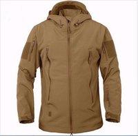 army raincoat - Fall Army Camouflage Coat Military Jacket Waterproof Windbreaker Raincoat Hunting Clothes Army TAD Men Outdoor Jackets And Coats