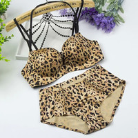 Wholesale mOXIAN Seamless leopard bra set gather small chest Bohou paragraph lingerie brand cup no rims bras Beautiful strap size B cup