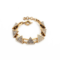 jewelry made in china - Charm Bracelet Elegent Gold Plated Jewelry supplies in chin Alloy Metal Triangle Pendants Bracelet Jewelry making supplies china