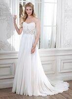beach wedding dress patterns - 2016 Sweetheart Wedding Dresses A line Vestido De Noiva Beach Casual Crystal Patterns Flowing Chiffon Cheap Made In China