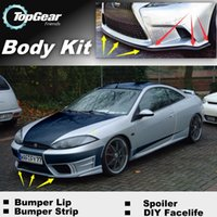 Wholesale Bumper Lip Lips For Ford Cougar Front Skirt Deflector Spoiler For Car Tuning The Stig Recommend Body Kit Strip