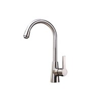 bar faucets brushed nickel - Brushed Nickel Kitchen Faucet Contemporary One Hole Single Handle Solid Brass Rotable Bar Water Mixer Tap