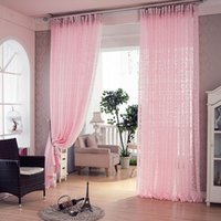Wholesale Curtains For Living Room Bedroom Pink Cortinas Para Sala De Luxo Modern Curtain Home Decor Sheer Luxury Tulle Curtains Tavas Divider