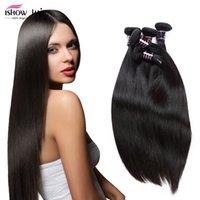Wholesale 6A Hair Wefts Cheap Silk Raw Hair Hair Straight Human Hair Extension Straight Chiness Hair Weave Bundles