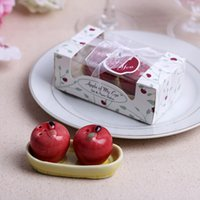 apple ceramic - Christmas Gifts Ceramic Red Apple Salt and Pepper shaker Party supplies wedding favor