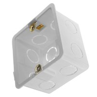 Wholesale single gang wall mount junction box type outlet wall switch box enclosure flush box plastic white back box for mansory wall