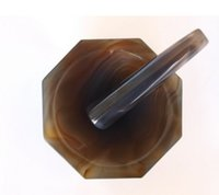 agate mortar and pestle - 4 quot Agate Mortar and Pestle inches outer diameter mm