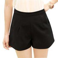 Wholesale Women Shorts Summer Fashion Chiffon High Waist Slim Short Pants for Girls Casual Plus Size Loose Ladies Basic Shorts XXXL