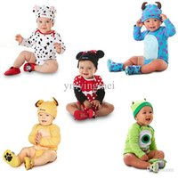 Wholesale 5 models Fashion M to M Summer Baby suit set Cute Romper Hat Carter s Baby Rompers