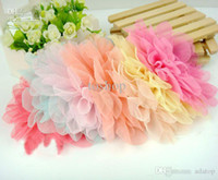Wholesale Tiaras flower headwear fashion floral lace diamond pearl hair flowers different colors pink purple yellow blue in stock day fast ship