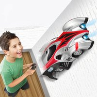 Wholesale Wall Climbing Climber RC Racer Radio Remote Control Racing Car Red Green Blue Radio Control Vehicles Toy Boy Kids Gifts