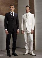 Tuxedos best holiday dresses - The groom s suitCustom Design Slim Fit Black White Groom Tuxedos Peaked Lapel Best Men s Wedding Dress Prom Holiday Suit Jacket pants tie Ve