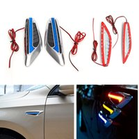 Wholesale 1 Pair LED Steering Lights Fender Side Lamp Blade Shape Auto Car Side Lights Turn Signal Lights