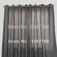 Wholesale 127 cm x cm gray curtain embroidered doug irregular geometric patterns