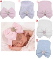baby beanies for girls - Newborn Baby Cute and Pretty Beanie Hat With Big Bow Baby Infant Girl Soft Warm Hospital Hat Cap for Month