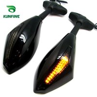 Wholesale New Hot Motorcycle Rearview Mirrors with Turn Signals LED Lights one pair