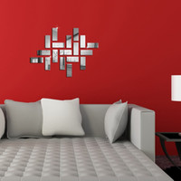 art mosaic mirror - 3D Home Decal Room Decal Home Decor Art DIY Acrylic cm Mosaic Mirror Wall Sticker
