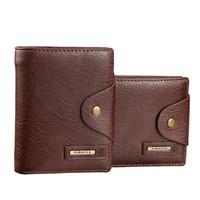 Noir Brun Avec Coin Card Pocket gros-2016 Marque Hommes Design court Petits Portefeuilles Homme Hommes PU cuir Holder Wallet Carteras Purse