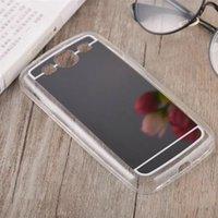 achat en gros de retour clair de galaxie-S3 Case Miroir Electroplating Soft Clear TPU arrière pour Samsung Galaxy S3 I9300 Transparent Phone Cases Conque