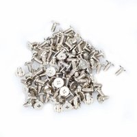 Wholesale 100PCS Bag Spots Cone Screw Metal Studs Leathercraft Rivet Bullet Spikes Shoes brass tachuelas para ropa