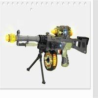 Wholesale LED Flashing Projector Gun Model Army Green Gun Pistol Toys For Kids Gun Toys Manual Mode