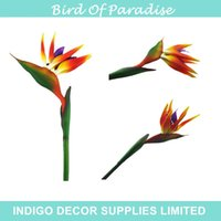 artificial bird of paradise - Bird Of Paradise Orchids Flower Decorative Artificial Real Touch Flower Wedding Flower Home Decoration