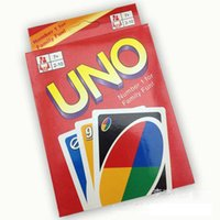 Wholesale BY DHL g UNO poker card standard edition family fun entertainment board game Kids funny Puzzle game