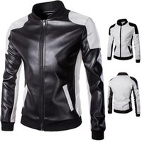 Wholesale 2016 new fashion Man Lether Jackets PU Leather men s male Men s Winter autumn Leather Jacket plus size M XL