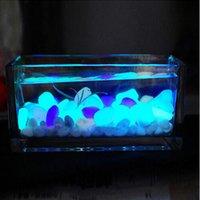 Wholesale 2016 Pack Glow Stones Luminous Pebbles Fish Tank Aquarium Decoration Fluorescent Pebble Stone Random Color