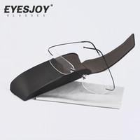 art frame glass - Silhouette Titanium Eyeglasses Frames Original Brand Glasses Men Women Rimless Oval Frame Eyewear Arts Ultra Clear Lenses SLH M7428
