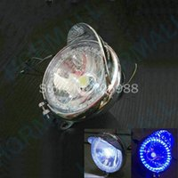 Wholesale 5 quot LED motorcycle driving lights motorcycle led light Blue LED Angel Eye White Headlight Headlamps
