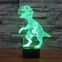 Wholesale Animal World USB Acrylic Colorful Dinosaur Nightlight Household Bedroom Office LED Table Lamp Child Christmas Gift D TD114