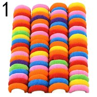 Wholesale 10lots Colorful Child Kids Hair Holders Cute Rubber Bands Elastic Hair Accessories Girl s Stripe Charms Baby Tie Gum Hair Holder