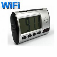 baby alarm clock - Motion detection HD P WIFI Camera Digital Smart alarm Clock Mini Camcorders Home security baby monitor high quality