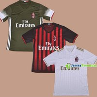 ac clubs - 2016 AC Milan Club Team Home Red Away White Third Football Soccer Jerseys Shirt DE SCIGLIO MAURI SUSO ADRIANO HONDA POLI ROMAGNOLI ZAPATA