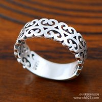 Wholesale Sterling Silver 925 Compact - Jimei Silver 925 sterling silver jewelry furuto ring pattern compact ring hollow and individual shipping