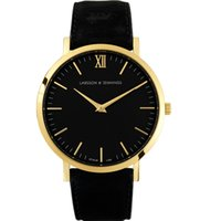 Wholesale 2016 Fashion Luxury Brand Larsson Jennings Quartz Watch For Men Famous Brand Women Dress Watches Sport Wristwatch Casual Fashion Leather wa