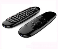 Gyroscope Fly Air Mouse C120 teclado inalámbrico del juego Android controlador remoto Teclado recargable para Smart TV Mini PC
