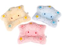 baby star bedding - Cartoon Star Shape Newborn infant memory foam pillow neck protection baby care bedding set concave massage sleeping pillow HK276